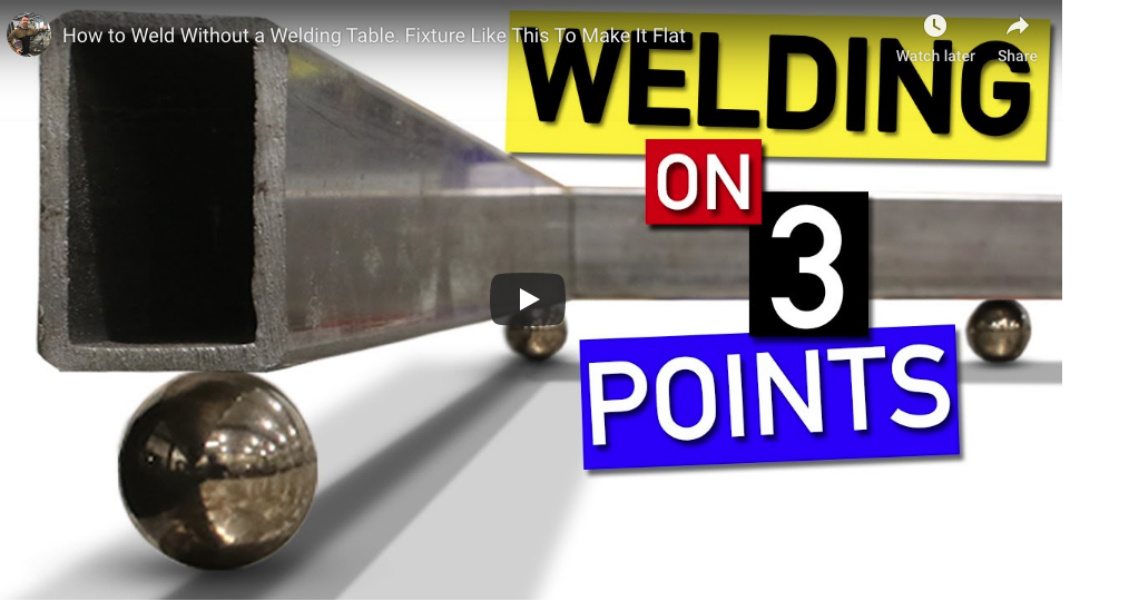 Here's How To Make Sure Your Projects End Up Flat Even If You Don't Have A Welding Table. Here Is How 3 Points Can Make You Accurate.