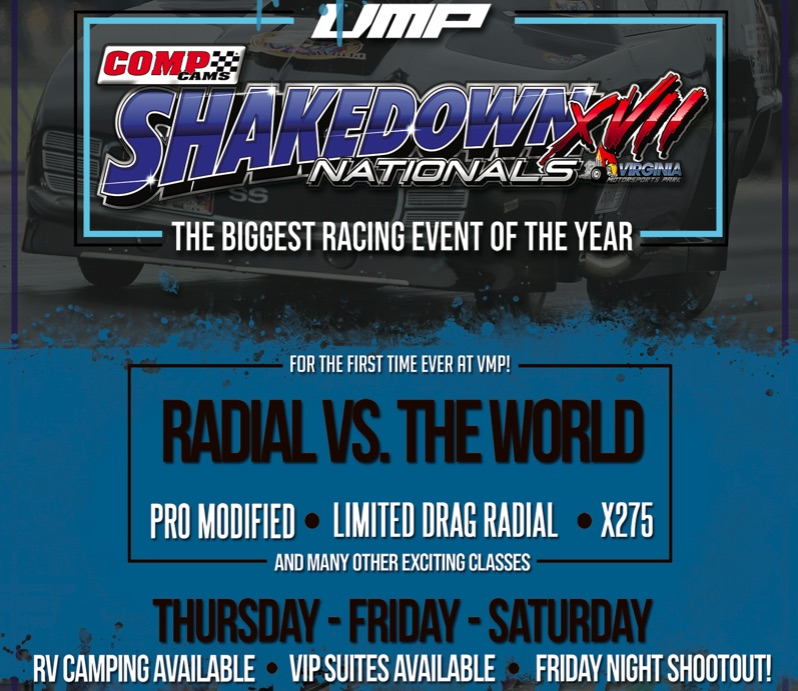 Watch the 17th COMP Cams Shakedown Nationals LIVE HERE NOW! Eliminations all day on Saturday!