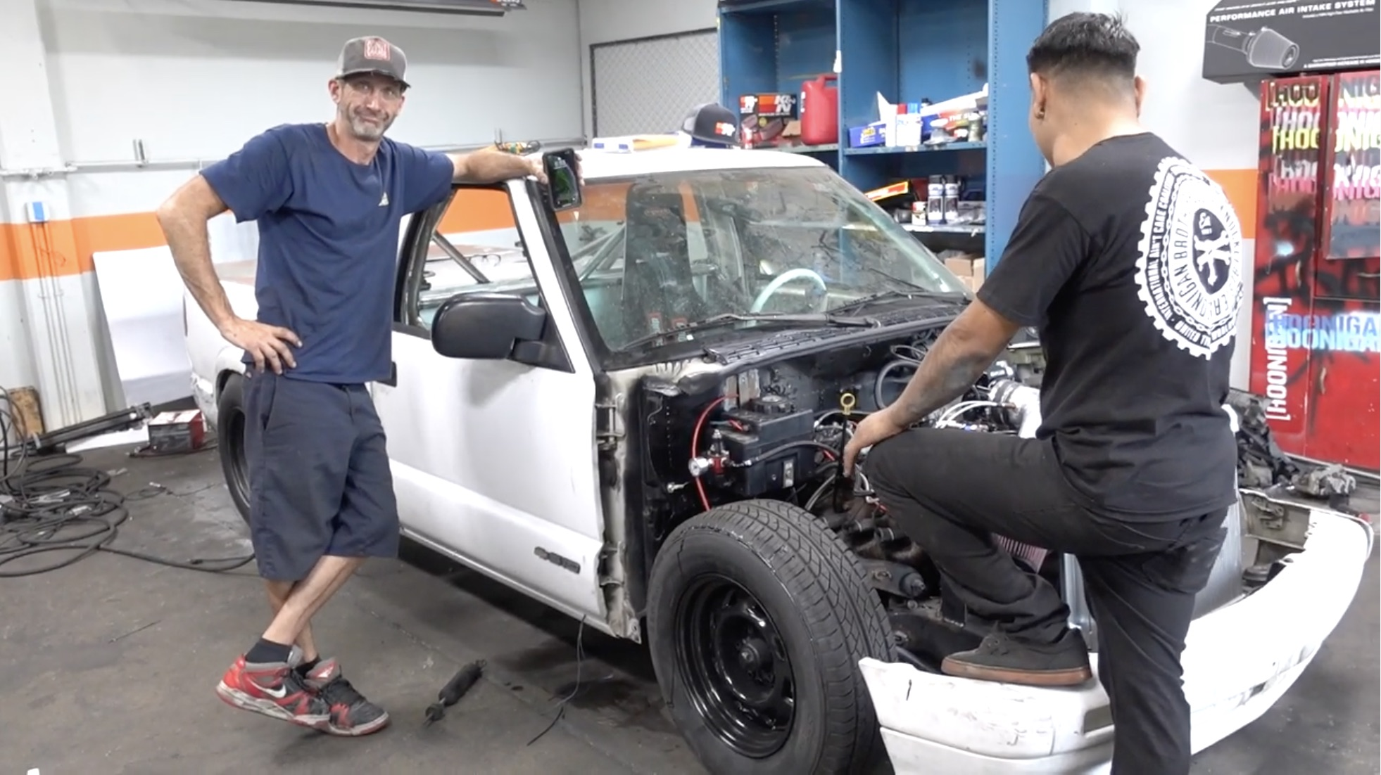 Hoonigan's Drag Car Build-Off Is Almost Done! Who Will Take It: V8 S-10 Or Hyper Rotary RX-7?