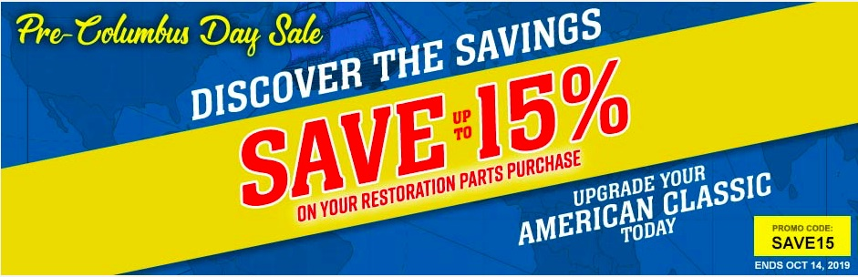 OPGI's Pre-Columbus Day Sale Means That You Can Save 15% Off Thousands Of Parts!