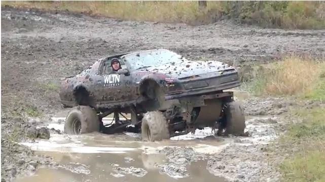 KITT's Hidden Mode: Watch This Firebird Mud Bogger Get Down!