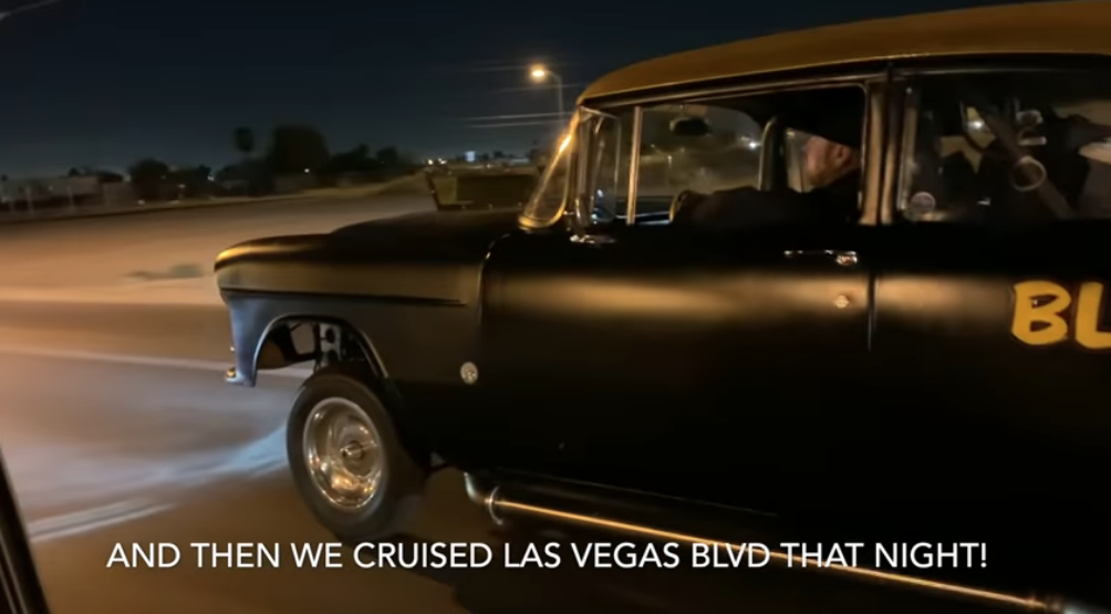 Finnegan Cruises Blasphemy On The Las Vegas Strip After Some Gasser Grudge Action!