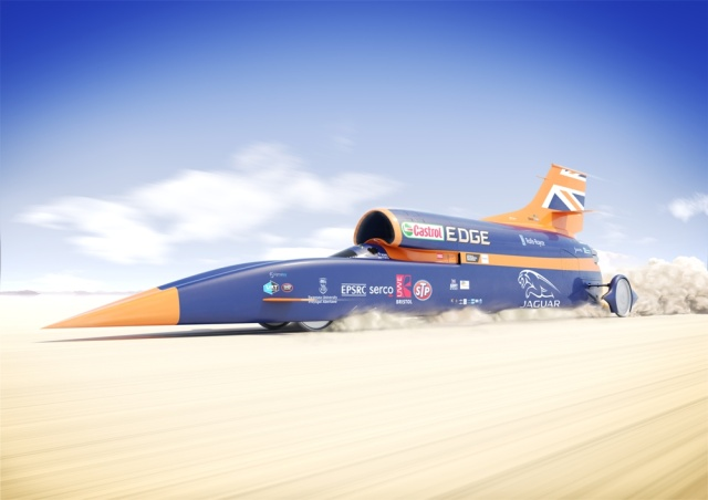 Halfway Home: The Bloodhound SSC Land Speed Car Crests 501mph In Southern Africa