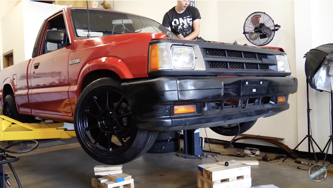 From Weak To Wicked: A Young Gun Building A V8 Mazda Drift Truck From Scratch!