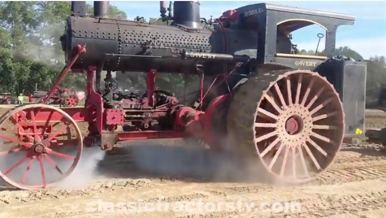 Steam Video: Watch Three Ancient and Massive Steam Tractors Drag A Multi-Bottom Plow In North Carolina