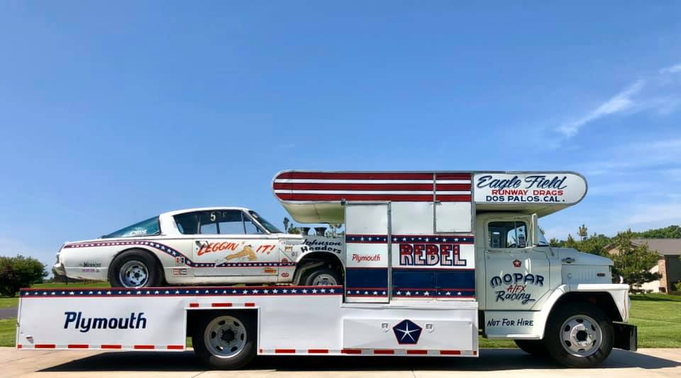 This 1965 Dodge C500 Hauler And 1966 Barracuda Gasser Are The Perfect Package And They Could Be Yours For Just Over $40,000