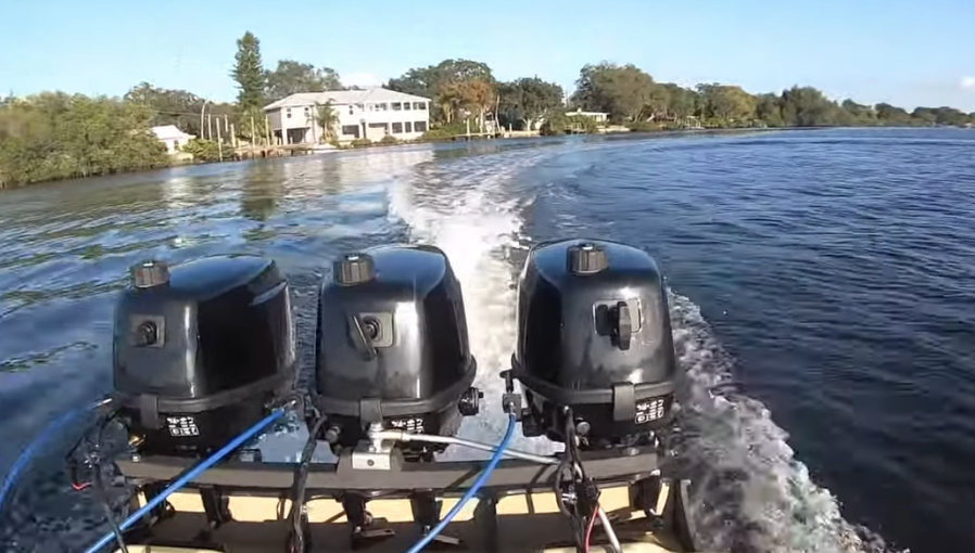 Watch How This Dude Made His Own Triple Engine Outboard Boat – This Is Going To Make This Little Bastard A Riot!