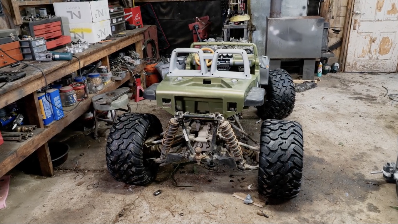 Same Recipe, With More Insanity: 100 Horsepower Four Wheel Drive Power Wheels Jeep!