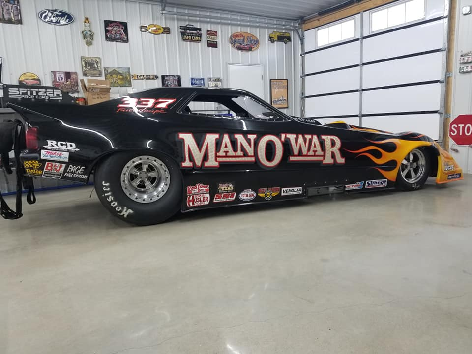 Want To Go Nostalgia Drag Racing? Buy The Man-O-War Nitro Funny Car For Only $38,000