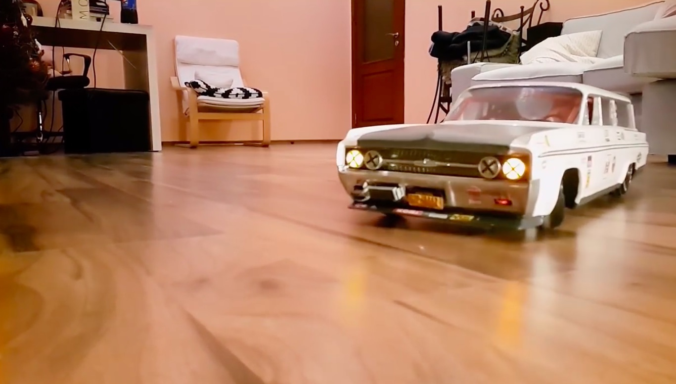 Incredible: This Guy Built A 1963 Olds Station Wagon RC Drift Car and Spent A Year Developing An Active Suspension System For it!