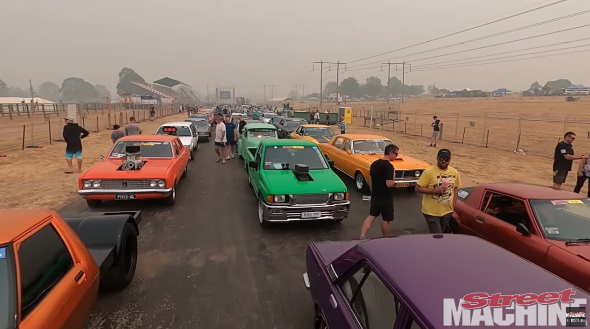 The Summernats City Cruise! Muscle Cars And Hot Rods That Aren't Street Legal Get To Do This Just Once Per Year!