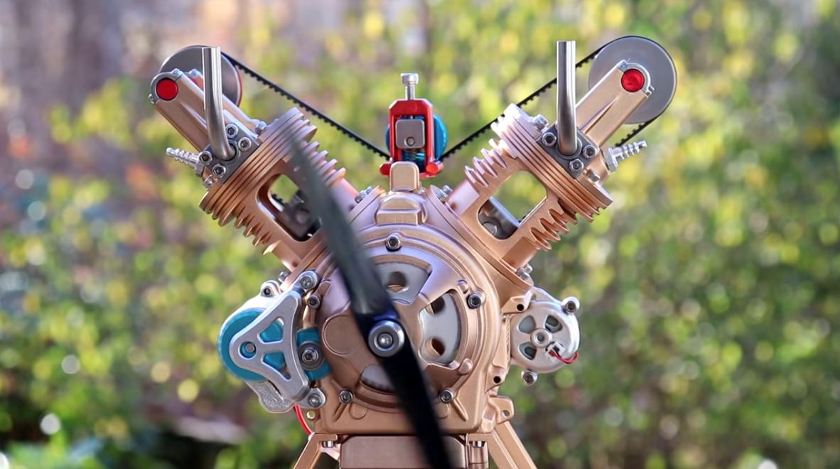 Động cơ V-Twin trên cao này tự xây dựng trong video này! Xem và bạn sẽ đào nó.