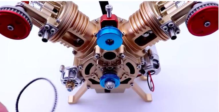BangShift.com Watch This Model V-Twin Engine Go Together Daimler