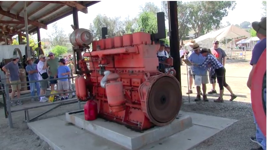Giant Six: Watch This 2,894ci Waukesha Gasoline Engine Fire Up And Rumble With The Help Of A Pony Motor