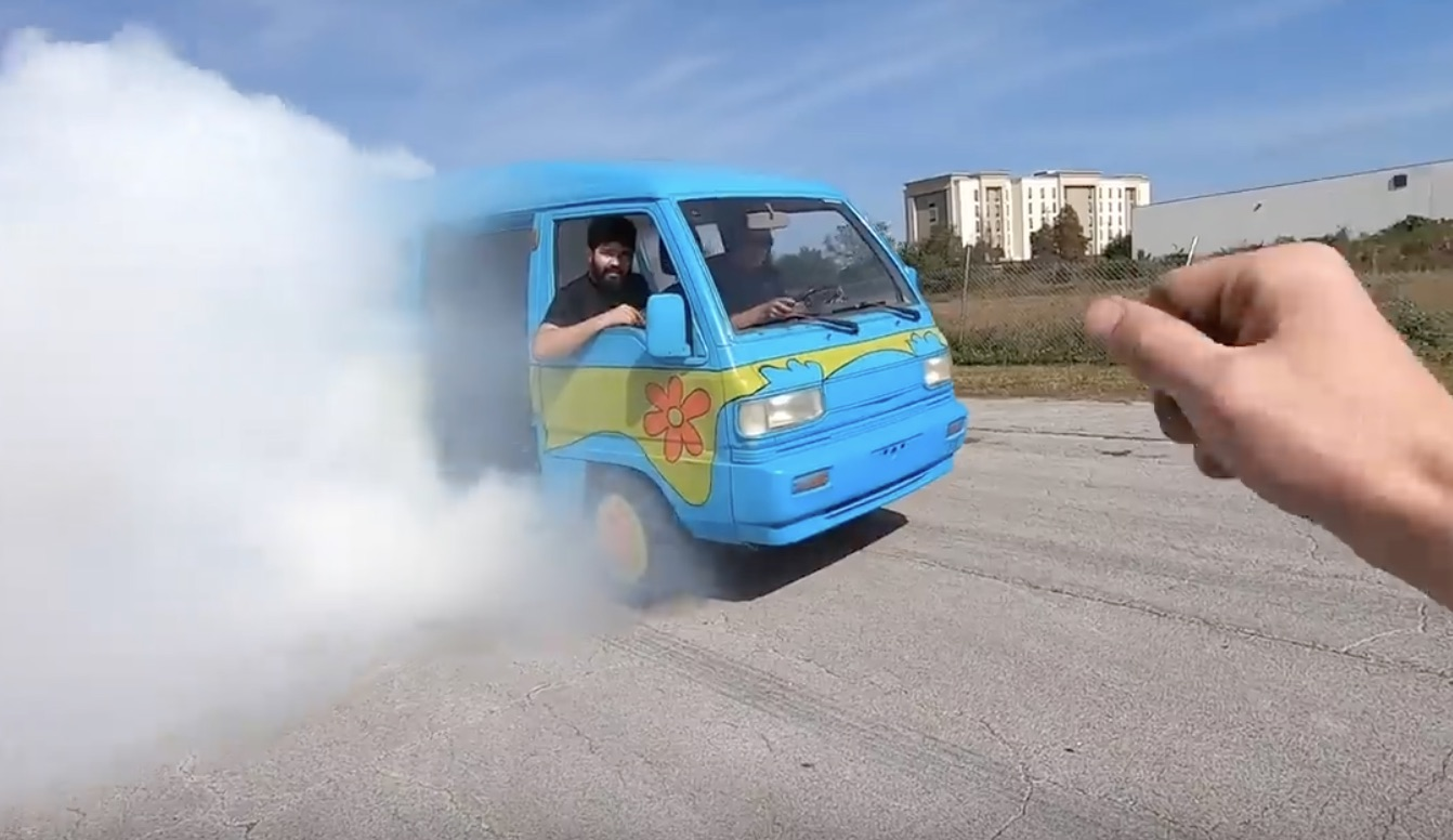 Ruh-Roh: Meet The Rotary Burnout Microvan That Cleetus And Crew Built!