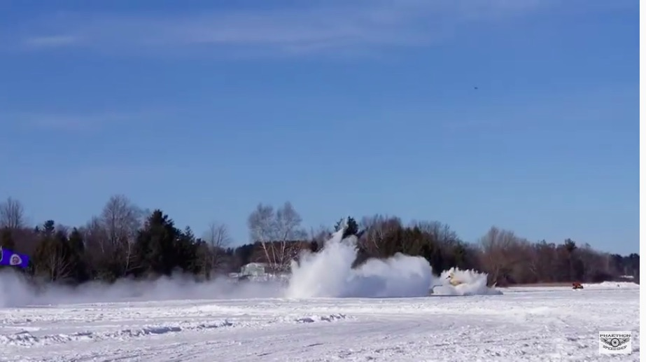 Watch Kurt Anderson Crash His Arctic Arrow Rocket Dragster While Attempting To Break Sammy Miller's Ice Speed Record – He Walked Away