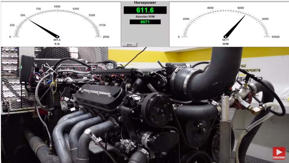 Cubes Are Good: Watch This 441ci LS7 Make 612hp At 6,500RPM On The Dyno