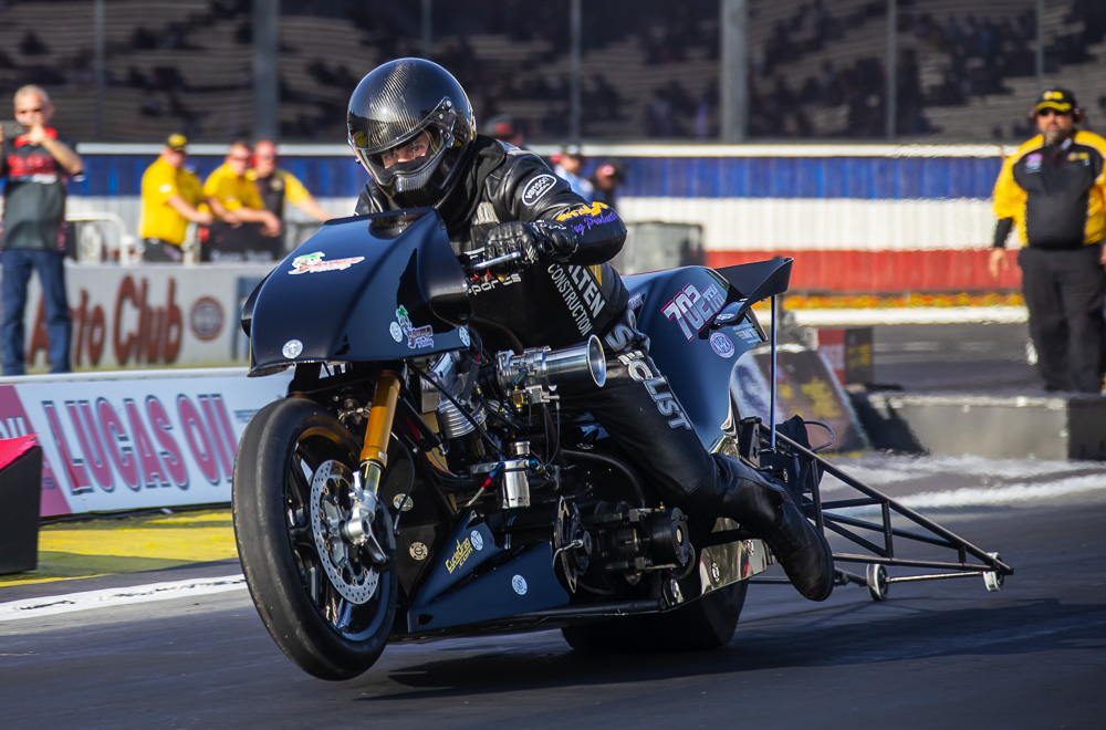 2020 NHRA Winternationals Photo Coverage: Mickey Thompson Top Fuel Harley-Davidson Action!