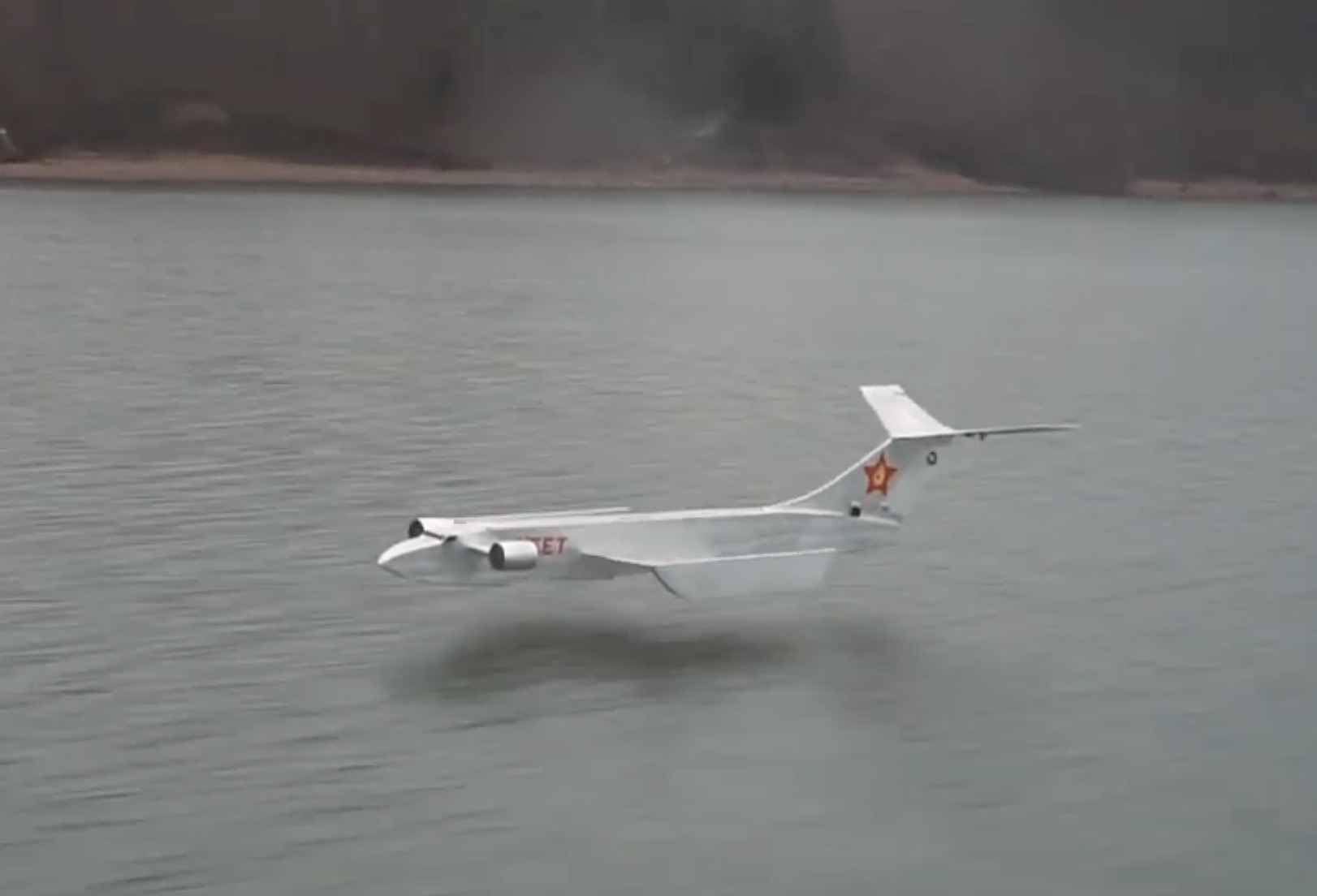 Homegrown Sea Monster: Check Out This Fully Functional Remote-Controlled Ekranoplan!