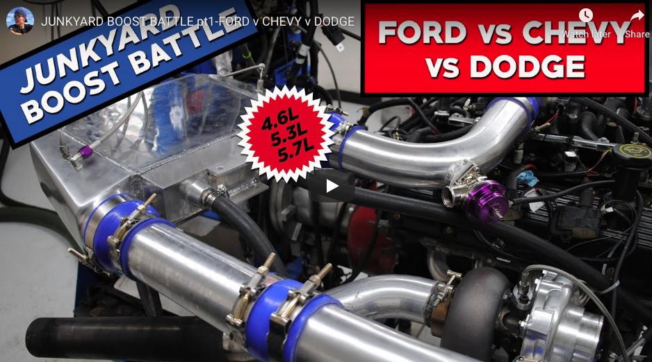 Junkyard Boost Battle: Who Will Reign Supreme? Mopar, Ford, Or Chevrolet?