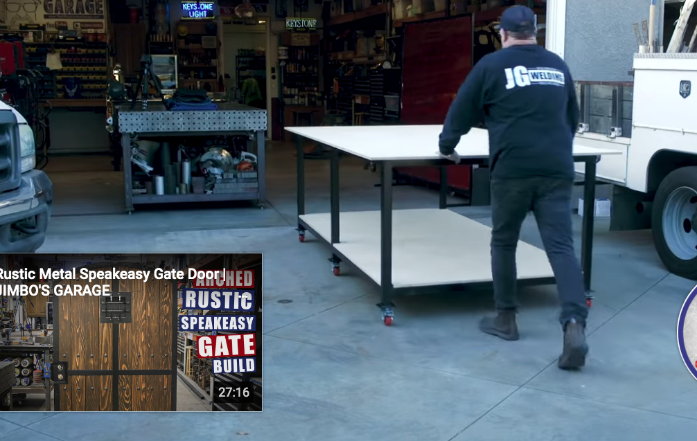 This Rolling Metal Shop Table Project Is One You Can Do At Home And Would Be Seriously Handy