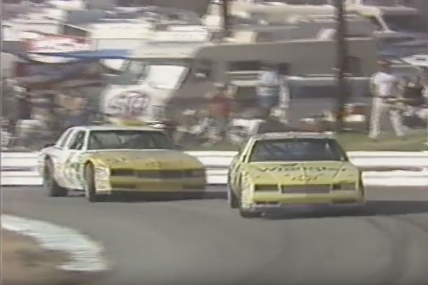 Classic YouTube: Geoff Bodine and Dale Earnhardt Battling At Riverside In 1987
