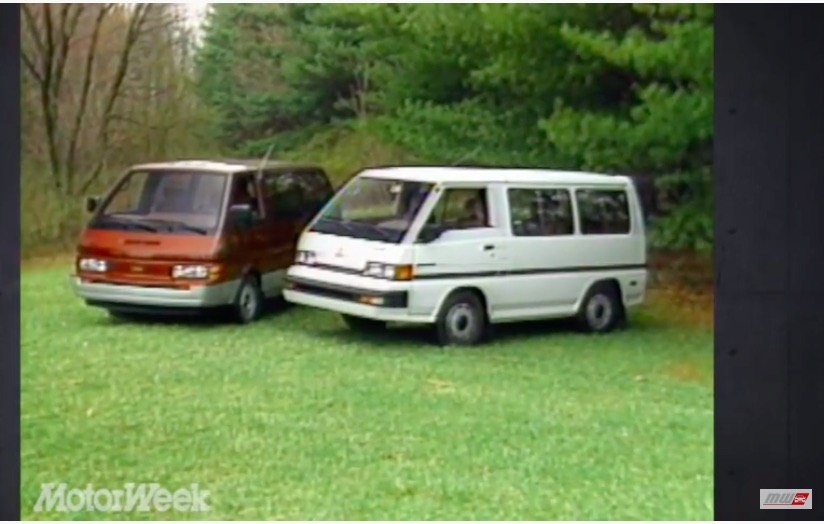 Weird Vans: This Dual Road Test Of The 1987 Nissan Van GXE and The Mitsubishi Wagon LS Is Funny