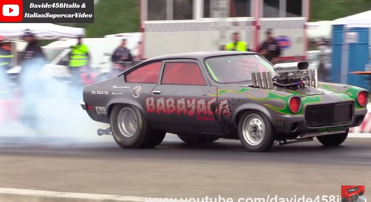 Angry Italian: This Vega Drag Car From Italy Has A Tunnel Rammed Big Block, Vertical Zoomies, and It's Quick!
