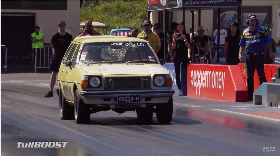 Looks Like Garbage, Runs Like Stink: This Little Aussie Mazda 323 Station Wagon Is Basic And Runs 8.50s!