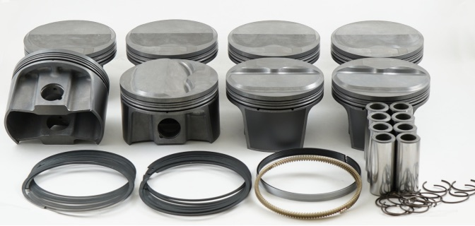 News Parts: MAHLE Motorsport Small Block Chevy 327 Dome All Forged PowerPak Piston Kit