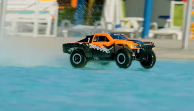 Attacking A Water Park With A Fleet Of RC Cars, Trucks, And Boats Looks Like A Riot! Traxxas Gets To Have All The Fun!