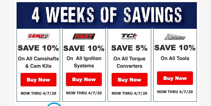 COMP Performance Group Is Offering FOUR Weeks Of Savings Across Their Brands – COMP, F.A.S.T, Powerhouse, and TCI!