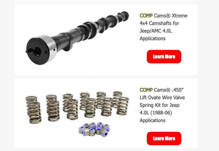 Want More Power From Your Jeep? COMP Cams Has Three New Jeep Cams, New Springs, and A new Timing Set To Check Out!