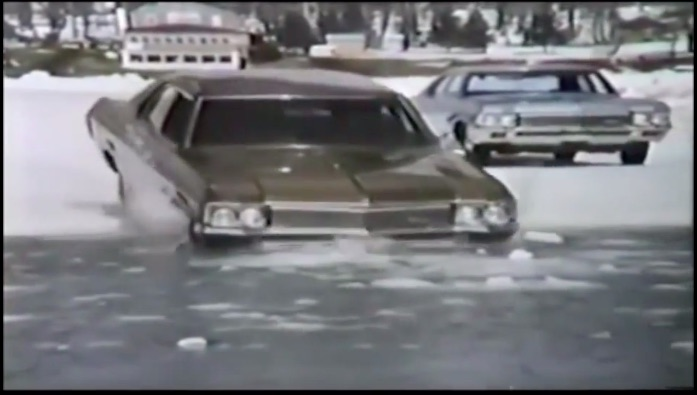 Want To Avoid Splashing Into A Frozen Lake? Use Firestone Winter Tires Like Those In This 1970 Ad!