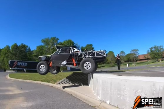 Trophy Truck Testing In And Around The Office Park Is Super Awesome With Robby Gordon
