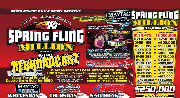Dragsters, Door Cars, And More! Our Spring Fling Million LIVE Stream Rebroadcast Is Right Here.