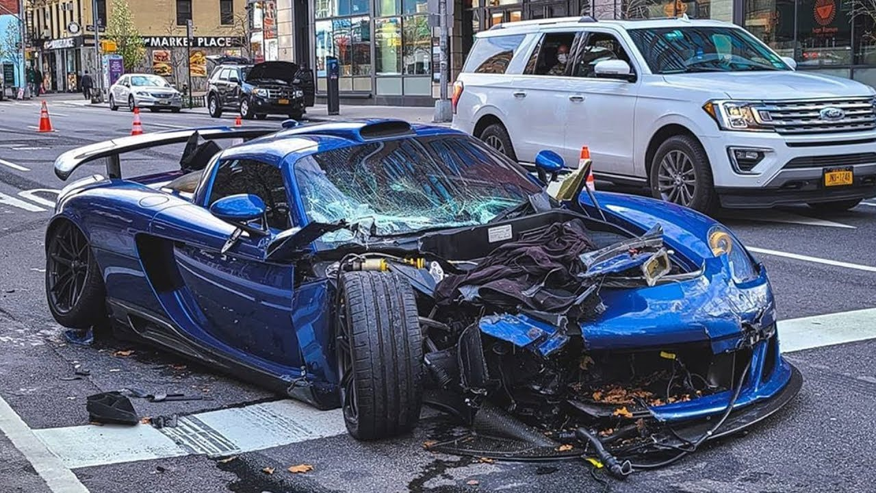 Wrecking Machine: A Guy Named Ben Chen Wrecked A Rare Gemballa GT And A Load Of Other Cars On A NYC Street