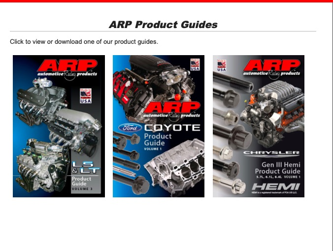 Knowledge Is Power: Check Out The ARP Product Guides Guides For LS/LT, Coyote, and Gen III Hemi Engines Here!
