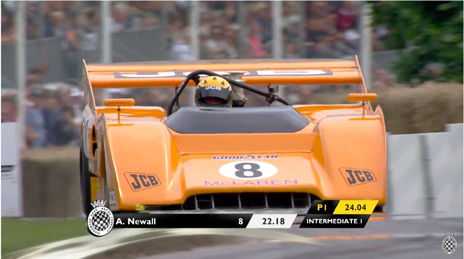 Watch This Mighty 1971 McLaren M8F Destroy The Quick Time Of The Day At Goodwood A Couple Years Back