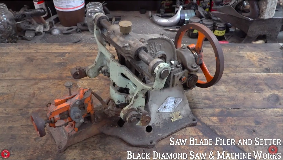 Restoration Video: Check Out The Awesome Process and Involved Work In Bringing Back A 1910-era Mechanical Saw Blade Filer
