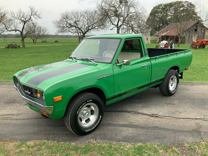 Shut Up And Take Our Money: This 1974 Datsun 620 Pickup Truck Is A Lil' Green Dream On Slot Mags!