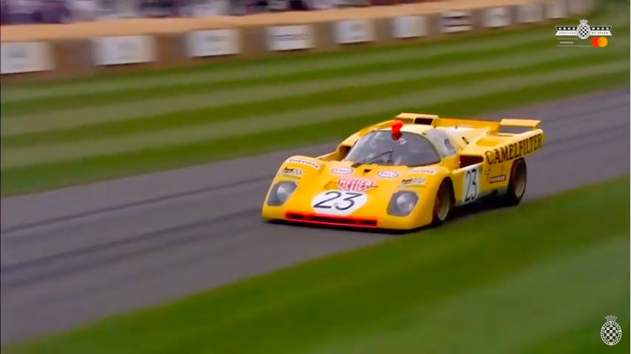Nothing Else Sounds Like It: Watch This Beautiful Ferrari 512 Driven By Derek Bell Scream Up Goodwood