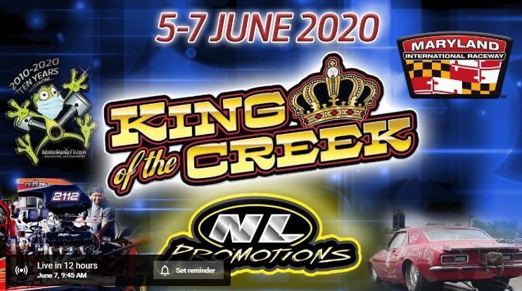 FREE LIVE DRAG RACING! The King Of The Creek From Maryland International Raceway