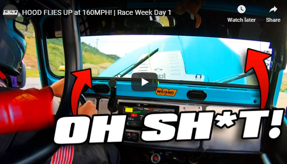 Hood Up At 160 mph?! No Bueno! 1320Video Rocky Mountain Race Week Video Day 1