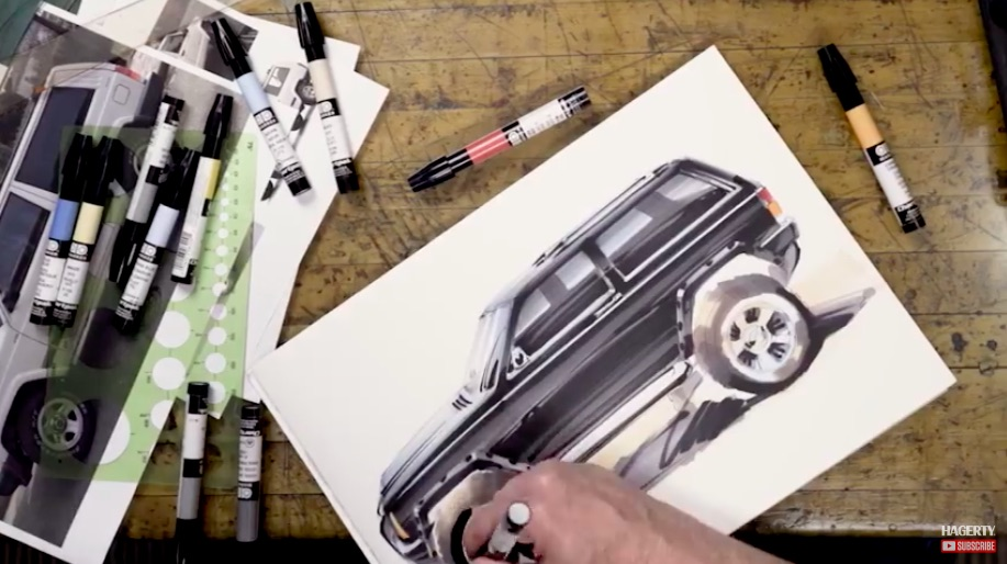 Foose Does The XJ: Check Out This Cool Video As Chip Foose Sketches Up His Own Personal Dream Jeep
