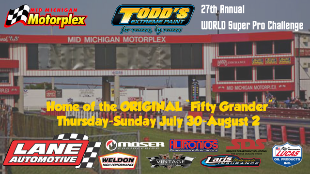 Watch LIVE: The World Super Pro Challenge From The Mid-Michigan Motorplex! Historic Big Money Bracket Racing!