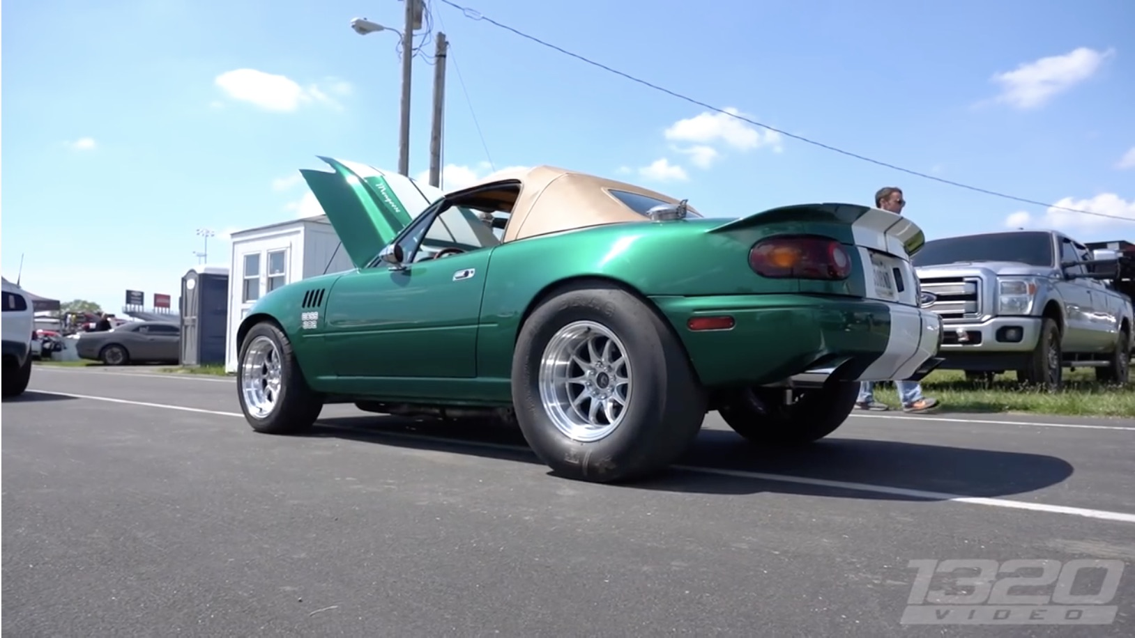 Rippin' Grip: This Beefy Little Ford-Powered Miata Can Get Down On The Strip