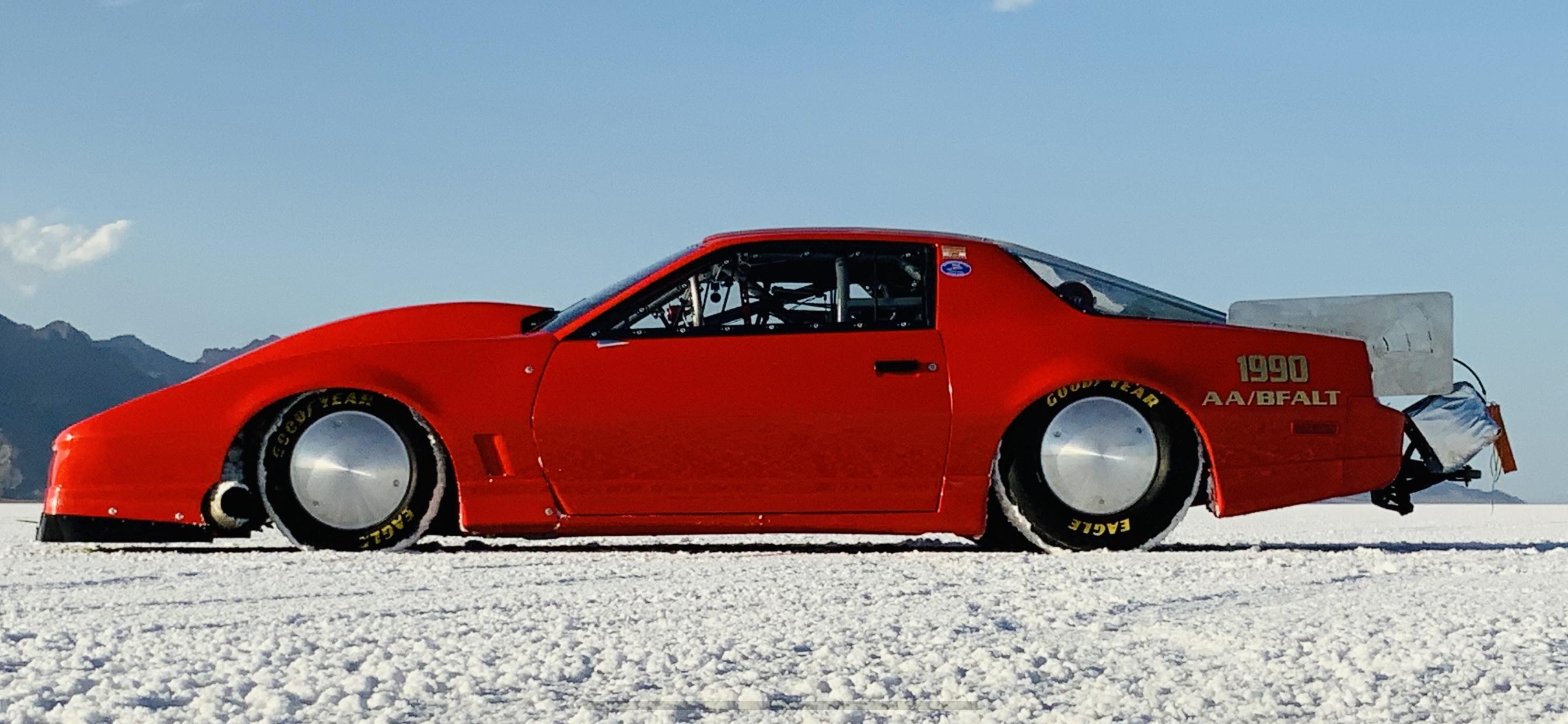 Watch The Team Built Buckwheat Racing Trans Am Go 288 mph From Inside The Car At Bonneville Last Week!