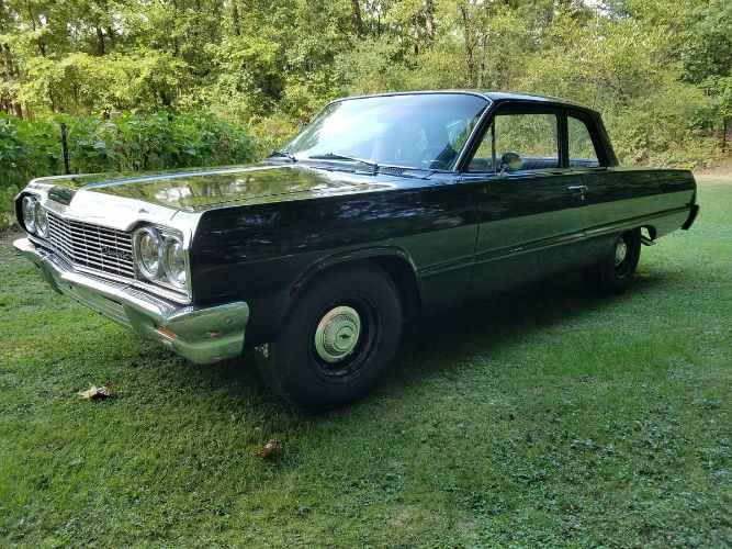 No Frills Fun: This 1964 Chevy Biscayne Has A Four-Speed, A 283, and Nice Black Paint