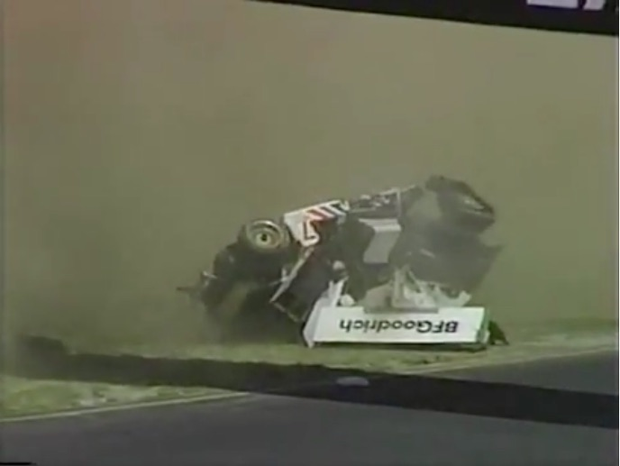 Watch Bob Wollek Dominate An IMSA Race At Sears Point And Then Wreck Horribly In The 1980s